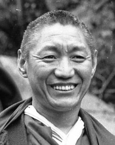 Geshe Damcho at Conishead Priory, 1983