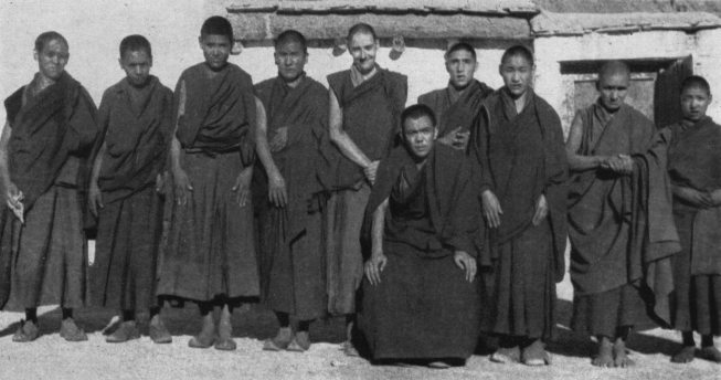 Geshe Damcho with Rizong Rinpoche, c1955